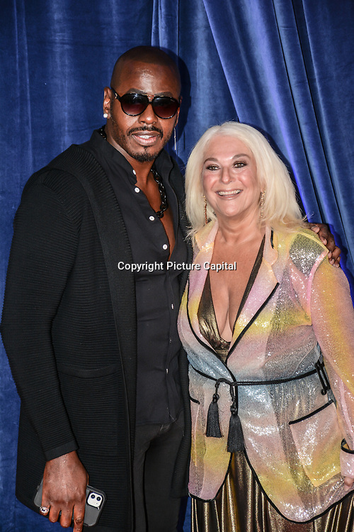 """Ben Ofoedu and Vanessa Feltz attended """"The Harder They Fall"""" Opening Night Gala - 65th BFI London Film Festival, Southbank Centre, London, UK. 6 October 2021."""
