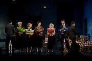 Ellen Burstyn: Elisabeth Moss: Keira Knightley: Carol Kane ; Tobias Menzies at the the press night of 'The Children's Hour' at Comedy Theatre. Panton st.  London. 9 February 2011. -DO NOT ARCHIVE-© Copyright Photograph by Dafydd Jones. 248 Clapham Rd. London SW9 0PZ. Tel 0207 820 0771. www.dafjones.com.