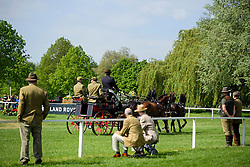 © London News Pictures. 15/05/2016. Windsor, UK. Spectators watch watch driven dressage on The final day of the 2016 Royal Windsor Horse Show, held in the grounds of Windsor Castle in Berkshire, England. This years event is part of HRH Queen Elizabeth II's 90th birthday celebrations.  Photo credit: Ben Cawthra/LNP