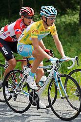 05.07.2011, AUT, 63. OESTERREICH RUNDFAHRT, 3. ETAPPE, KITZBUEHEL-PRAEGRATEN, im Bild Fredrik Kessiakoff, (SWE, Pro Team Astana) und Robert Hunter, (RSA, Team Radioshack)  // during the 63rd Tour of Austria, Stage 3, 2011/07/05, EXPA Pictures © 2011, PhotoCredit: EXPA/ S. Zangrando