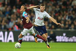 25 October 2017 -  Carabao Cup (4th Round) - Tottenham Hotspur v West Ham United - Eric Dier of Tottenham Hotspur in action with  Mark Noble of West Ham United - Photo: Marc Atkins/Offside