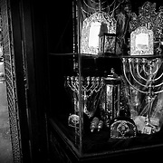 Religious articles shop in the Mea Shearim neighborhood in Jerusalem.