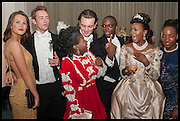 FRANZI GABBERT; ALEX PROUDLOCK; FARIDAH FOLAWIYO; JACK STANTON;  KOLA LAWAL; CUPPY OTEDOLA, Florence Heoluwa 'Cuppy' Otedola Marie Antoinette Graduation party. Mandarin Oriental, Knightsbridge25th of July 2014.