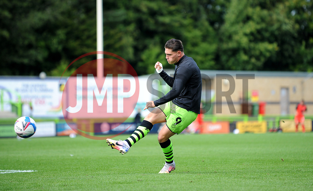 Mathew Stevens of Forest Green Rovers warms up prior to kick-off - Mandatory by-line: Nizaam Jones/JMP - 05/09/2020 - FOOTBALL - New Lawn Stadium - Nailsworth, England - Forest Green Rovers v Leyton Orient - Carabao Cup