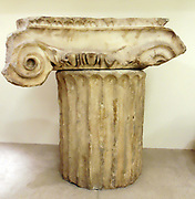 Ionic angle-capitol from the Mausoleum at Halicarnassus, Greek circa 350BC
