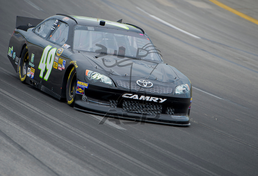Sparta, KY - JUN 29, 2012: J.J. Yeley (49) during qualifying for the Quaker State 400 at Kentucky Speedway in Sparta, KY.