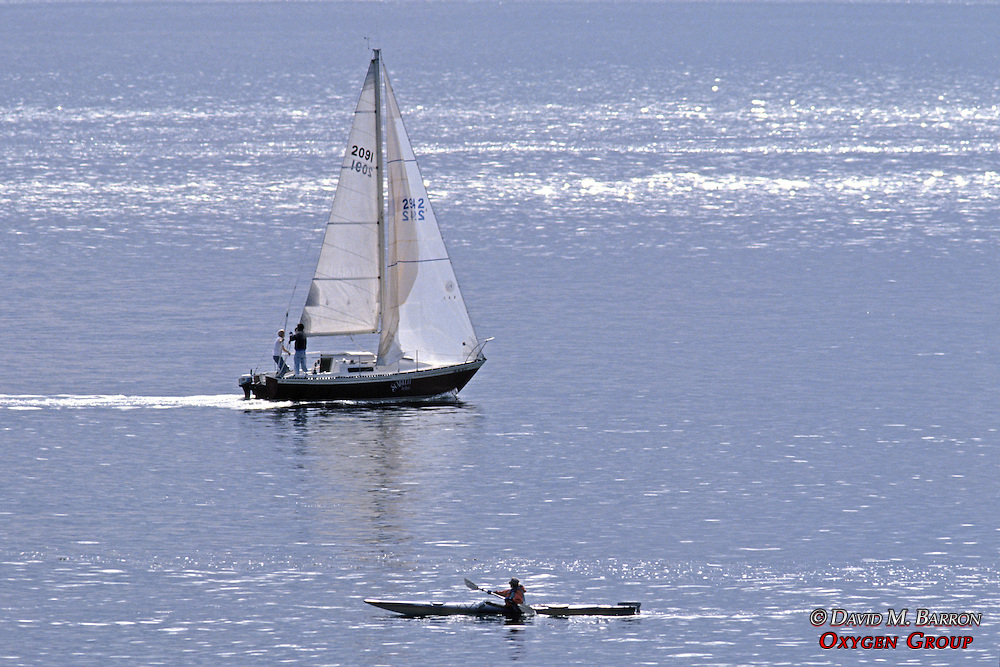 Sailboat With Kayak