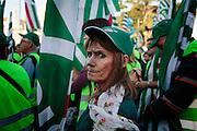 Manifestazione dei sindacati del servizio pubblico. Roma 08 Novembre 2014.  Christian Mantuano / OneShot