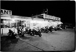 Late Night at Rudy's. Sturgis. SD. 1981<br /> <br /> Limited Edition Print from an edition of 20. Photo ©1981 Michael Lichter.