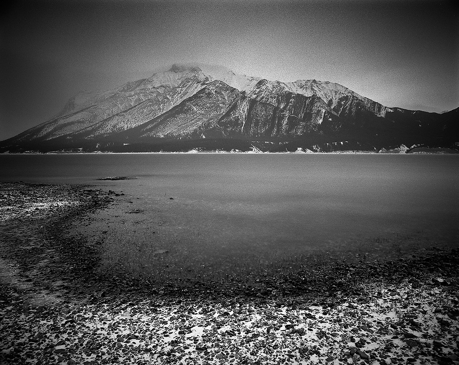 Mount Michener gets captured in a beautiful curving shore
