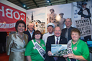 NO FEE PICTURES<br /> 23/1/16 Minister for Tourism Michael Ring and Maureen Ledwith, organiser of the Holiday World Show at the Visit Cobh stand at the Holiday World Show at the RDS in Dublin. Picture: Arthur Carron
