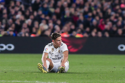 February 6, 2019 - Barcelona, Spain - 18 Marcos Llorente of Real Madrid with a leg injury during the semi-final first leg of Spanish King Cup / Copa del Rey football match between FC Barcelona and Real Madrid on 04 of February of 2019 at Camp Nou stadium in Barcelona, Spain  (Credit Image: © Xavier Bonilla/NurPhoto via ZUMA Press)