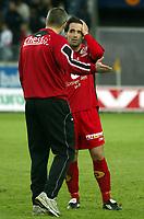 Fotball, eliteserien, 13/06-2005, Viking Stadion,<br />Viking - Brann,<br />Martin Andresen og Mons Ivar Mjelde etter kampen,<br />Foto: Sigbjørn Andreas Hofsmo