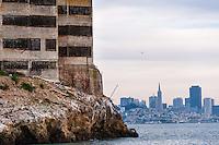 "United States, California, San Francisco. Cityscape from the famous Alcatraz prison island, also known as ""The Rock""."