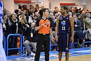 DESCRIZIONE : Brindisi Lega serie A 2013/14 Enel Brindisi Acea Virtus Roma<br /> GIOCATORE : Jordan Taylor Arbitro<br /> CATEGORIA : Fairplay Arbitro<br /> SQUADRA : Acea Virtus Roma Arbitro<br /> EVENTO : Campionato Lega Serie A 2013-2014<br /> GARA : Enel Brindisi Acea Virtus Roma <br /> DATA : 26/01/2014<br /> SPORT : Pallacanestro<br /> AUTORE : Agenzia Ciamillo-Castoria/GiulioCiamillo<br /> Galleria : Lega Seria A 2013-2014<br /> Fotonotizia : Brindisi Lega serie A 2013/14 Enel Brindisi Acea Virtus Roma<br /> Predefinita :