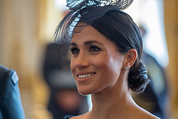 Duchess of Sussex attends a reception at Buckingham Palace, London to mark the centenary of the Royal Air Force.