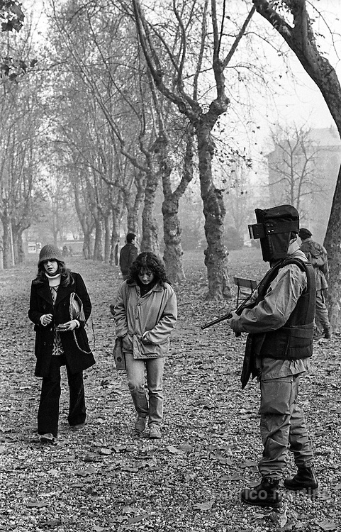 Turin, 1978. The trial against the Brigate Rosse (Red Brigades) when Aldo Moro was kidnapped and killed.