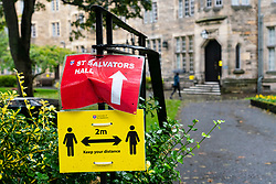 St Andrews, Scotland, UK. 30 September, 2020. Students in halls of residence at St Andrews University have been told that they can leave for home without financial penalty. The Scottish Government controversially told students in Scotland  to self-isolate in their rooms following localised outbreaks of Covid-19 amongst students. Pictured; Exterior of St Salvators Hall.  Iain Masterton/Alamy Live News