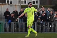 Havant & Waterlooville Ryan Woodford (5) scores first goal 0-1 Havant during the Ryman Premier League match between Bognor Regis Town and Havant & Waterlooville FC at Nyewood Lane, Bognor, United Kingdom on 26 December 2016. Photo by Jon Bromley.