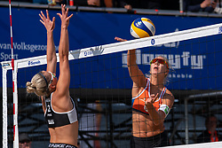 Pleun Ypma (2) of Netherlands, Renate Pikk (2) of Estonia during CEV Continental Cup Final Day 1 - Women on June 23, 2021 in The Hague