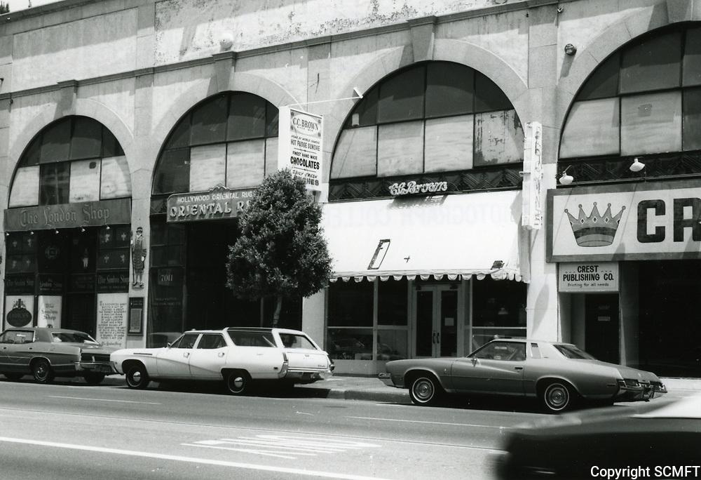 1973 C.C. Brown's Cafe on Hollywood Blvd., just west of Orange Dr.