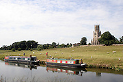 The village of Fothinghay on the river Nene in Northamptonshire.<br />