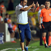 Fenerbahce's headcoach Vitor Pereira during their Turkish Super League soccer match Caykur Rizespor between Fenerbahce at the Yeni Rize Sehir stadium in Rize Turkey on Sunday, 23 August 2015. Photo by TVPN/TURKPIX