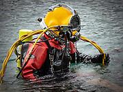 Kirby Morgan 37 commercial diver at Dutch Springs, Scuba Diving Resort in Bethlehem, Pennsylvania