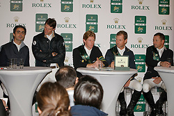 Ehning Marcus (GER), Bengtsson Rolg Göran (SWE), Lamaze Eric (CAN), Staut Kevin (FRA), Pessoa Rodrigo (BRA)<br /> Rolex IJRC Top 10 Final - Paris 2009<br /> Photo © Dirk Caremans