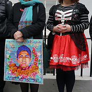 Helen Goodman Mp and Danielle Rowley join protest on the Day to remember the dead in Mexico of the disappearance student in Mexico and around the globe on 2nd November 2017 outside Embassy of Mexico, London, UK