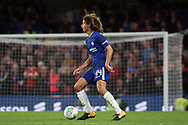 Ethan Ampadu of Chelsea in action. Carabao Cup 3rd round match, Chelsea v Nottingham Forest at Stamford Bridge in London on Wednesday 20th September 2017.<br /> pic by Steffan Bowen, Andrew Orchard sports photography.
