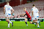 George Barton of Gloucester Rugby during the Gallagher Premiership Rugby match between Gloucester Rugby and Exeter Chiefs at the Kingsholm Stadium, Gloucester, United Kingdom on 26 March 2021.