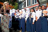 31-8-2016 BOGOR  - Queen Maxima  during a field visit she visits Inclusive Finance projects in Bogor  outside Jakarta   she visits little shops . Queen Maxima visit on wensday, August 31th to Thursday, September 1st, the Republic of Indonesia in its role of special advocate of the Secretary-General of the United Nations for Inclusive Finance for Development. COPYRIGHT ROBIN UTRECHT<br /> <br /> 31-8-2016 BOGOR - Koningin Maxima tijdens een veldbezoek ze bezoekt Inclusive Finance projecten in Bogor buiten Jakarta bezoekt ze kleine winkeltjes en een school . Koningin Maxima bezoeken op wensday, 31-01 augustus donderdag, september, de Republiek Indonesië in haar rol van speciale pleitbezorger van de secretaris-generaal van de Verenigde Naties voor Inclusive Finance for Development. COPYRIGHT ROBIN UTRECHT