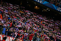 Atletico de Madrid´s supporters celebrate their victory during the UEFA Champions League round of 16 second leg match between Atletico de Madrid and Bayer 04 Leverkusen at Vicente Calderon stadium in Madrid, Spain. March 17, 2015. (ALTERPHOTOS/Victor Blanco)