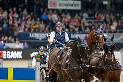 EXELL Boyd (AUS), Bajnok, Orias, Demin, Clinton Star<br /> Stuttgart - German Masters 2019<br /> FEI Driving World Cup™ DB SCHENKER GERMAN MASTER<br /> Wertungsprüfung für den FEI Driving World Cup™ 2019/2020<br /> Int. Zeit-Hindernisfahren Vierspänner mit 2 Umläufen<br /> 16. November 2019<br /> © www.sportfotos-lafrentz.de/Stefan Lafrentz
