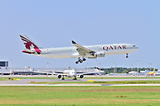 Qatar Airways Airbus A330 at takeoff at Milan - Malpensa (MXP / LIMC) Italy