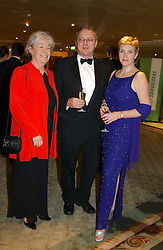 Left to right, VANDA SCOTT co-organiser of the event, DAVID KING CEO of Samaritans and CHARLOTTE VERE Chairman of the event Committee at a ball to celebrate the 50th anniversary of the charity 'Samaritans' held at The Dorchester Hotel, Park lane, London W1 on 15th February 2005.<br /><br />NON EXCLUSIVE - WORLD RIGHTS