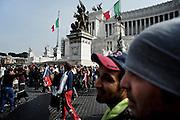 Manifestazione del movimento per la casa in piazza Venezia. Roma, 20 marzo 2014. Christian Mantuano / OneShot