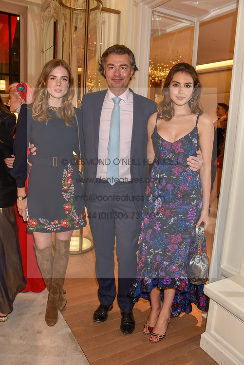 Rosie Tapner, Laurent Feniou, Genevieve Gaunt at the reopening of the Cartier Boutique, New Bond Street, London, England. 31 January 2019. <br /> <br /> ***For fees please contact us prior to publication***