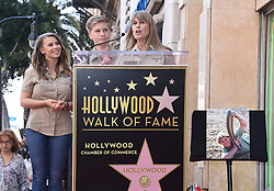 Robert Irwin, Terri Irwin, Bindi Irwin and Wes Mannion attends Steve Irwin's posthumous Hollywood Walk of Fame star ceremony on April 26, 2018 in Hollywood, CA. ©Tammie Arroyo / AFF-USA.com. 26 Apr 2018 Pictured: Bindi Irwin, Terri Irwin and Robert Irwin. Photo credit: Tammie Arroyo / AFF-USA.com / MEGA TheMegaAgency.com +1 888 505 6342