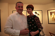 Mark Demsteader and Erin O'Connor , Private View of 'Icon' - life drawings of Erin O'Connor by   Mark Demsteader. Panter & Hall, 9 Shepherd Market, London 17 April 2007.  -DO NOT ARCHIVE-© Copyright Photograph by Dafydd Jones. 248 Clapham Rd. London SW9 0PZ. Tel 0207 820 0771. www.dafjones.com.