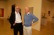 Peter Cook and Allen Jones, Art and the 60s: This was Tomorrow, Tate,29 June 2004. SUPPLIED FOR ONE-TIME USE ONLY-DO NOT ARCHIVE. © Copyright Photograph by Dafydd Jones 66 Stockwell Park Rd. London SW9 0DA Tel 020 7733 0108 www.dafjones.com