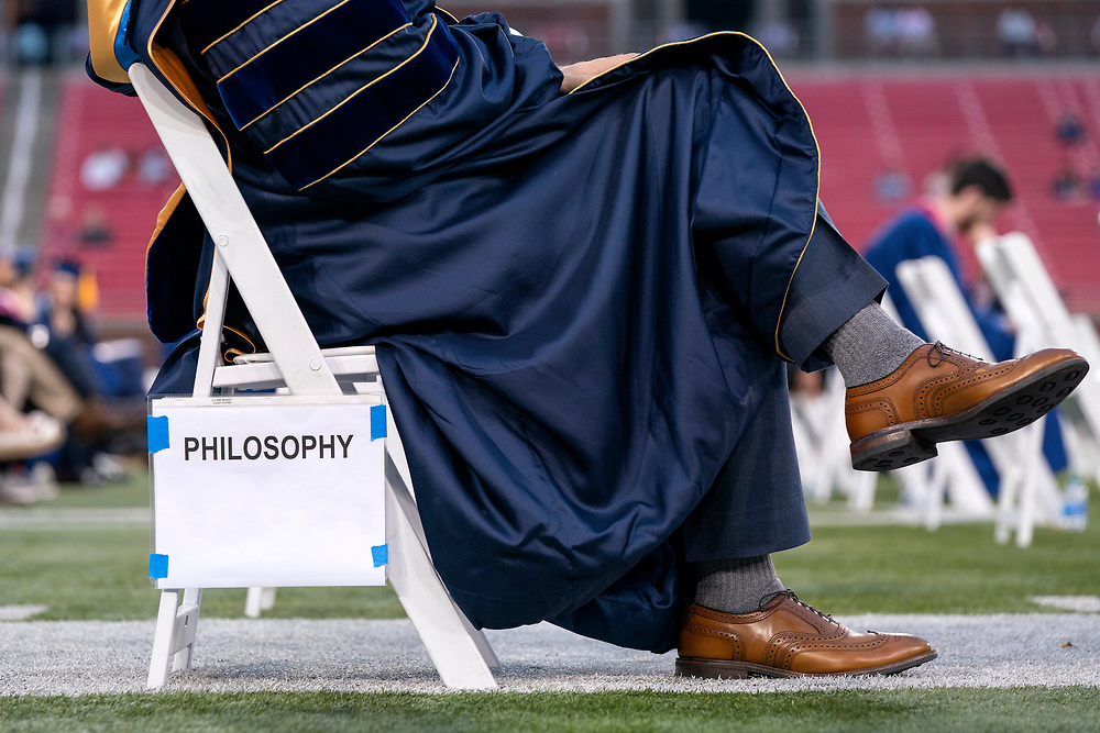 Students in the SMU Dedman College of Humanities and Sciences participate in their diploma ceremony Saturday, May 15, 2021 at Ford Stadium on the SMU campus in Dallas.<br /> Job 21-356