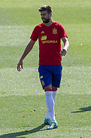 Spanish Gerard Pique during the second training of the concentration of Spanish football team at Ciudad del Futbol de Las Rozas before the qualifying for the Russia world cup in 2017 August 30, 2016. (ALTERPHOTOS/Rodrigo Jimenez)