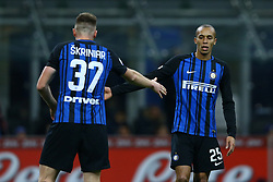 January 21, 2018 - Milan, Italy - Milan Skriniar of Internazionale and Miranda of Internazionale  during the Serie A match between FC Internazionale and AS Roma at Stadio Giuseppe Meazza on January 21, 2018 in Milan, Italy. (Credit Image: © Matteo Ciambelli/NurPhoto via ZUMA Press)
