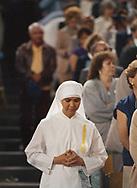 Pope John Paul II made his historic tour to the United States, September 10-18, 1987, visiting Miami, Florida; Columbia, SC; New Orleans, LA; San Antonio, TX, Phoenix, AZ, Los Angeles, CA; Monterrey, CA, San Francisco, CA, and Detroit, MI. <br /> <br /> Dodger stadium, Los Angeles,