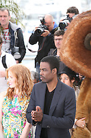 Jessica Chastain and Chris Rock at the Madagascar 3: Europe's Most Wanted photocall at the 65th Cannes Film Festival. Friday 18th May 2012 in Cannes Film Festival, France.