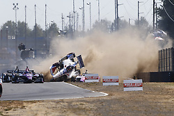 September 2, 2018 - Portland, Oregon, United Stated - MARCO ANDRETTI of the United States flips wildly during the start of the Grand Prix of Portland  at Portland International Raceway in Portland, Oregon. (Credit Image: © Justin R. Noe Asp Inc/ASP via ZUMA Wire)