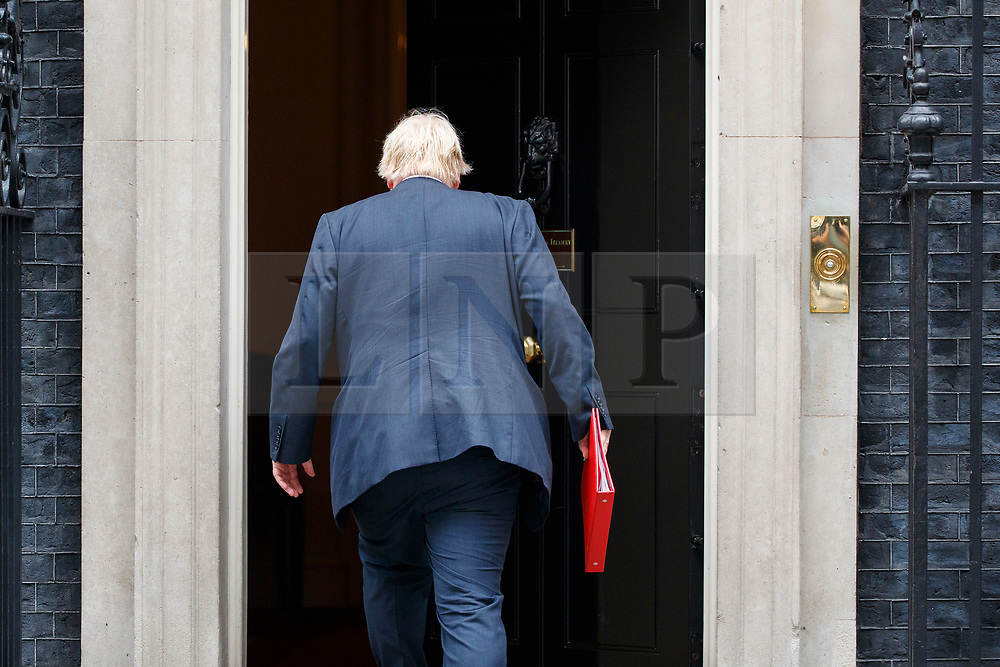 © Licensed to London News Pictures. 11/07/2017. London, UK. Foreign Secretary BORIS JOHNSON attends a cabinet meeting in Downing Street, London on Tuesday, 11 July 2017. Photo credit: Tolga Akmen/LNP