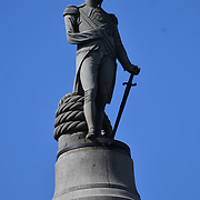 Nelson's Column in Trafalgar Square, on 27 June 2019, London, UK